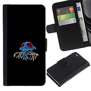 Stuss Case / Funda Carcasa PU de Cuero - Azul Rojo Pekemon - Apple Iphone 4 / 4S