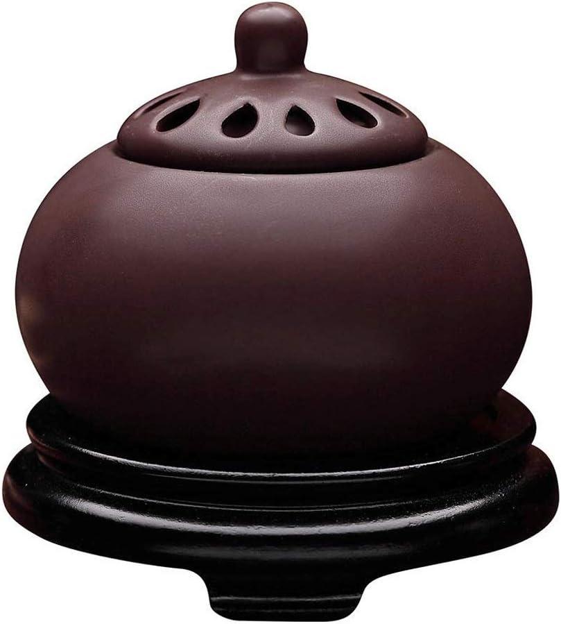 Quemador de Incienso de cerámica, Arena púrpura eléctrico Quemador de Incienso, Madera de agar serrín, Polvo de sándalo Estufa, Torre Quemador de Incienso, decoración casera