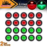 Meerkatt-Pack-of-20-34-Inch-Miniature-Round-10-Red--10-Green-LED-Bullet-Clearance-Lamp-Penny-Side-Marker-Unive