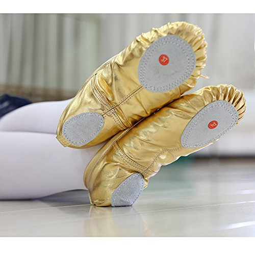 Dance Gymnastic Shoes Dreamone Kids Flat Ballet Girls Soft Women Yoga Pumps Slippers Gold Ballet Shoes gFwpCUqxw