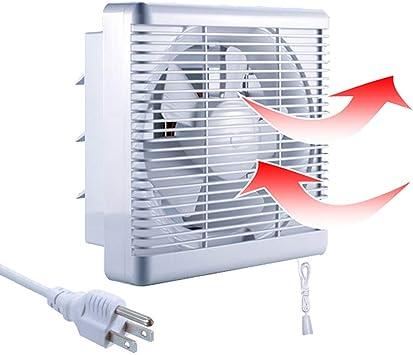 6/'/' Wall Extractor Ventilation Fan Blower Window Bathroom Kitchen Black White