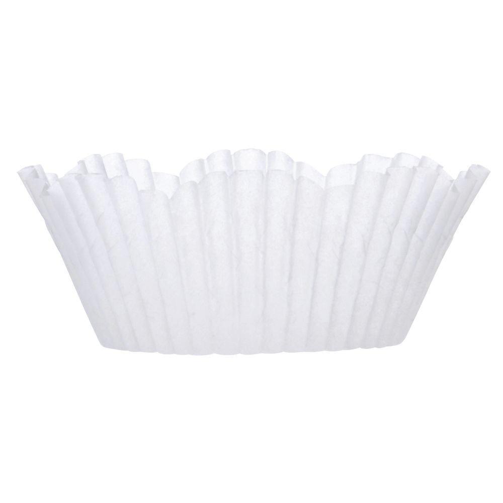 2 oz White Petal Cupcake Liner Paper - 2''Dia x 1 1/4''H