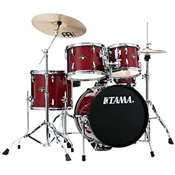 tama imperialstar 5 piece complete drum set with meinl hcs cymbals and 18 in bass. Black Bedroom Furniture Sets. Home Design Ideas