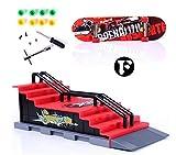JinZhiCheng Finger Skateboarding Ramp Parts Skateboard Toy (Red)