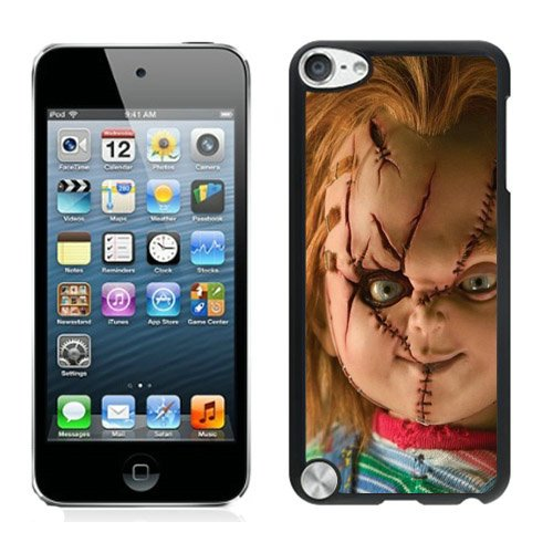 Scary Chucky Doll Black Shell Case for iPod Touch 5,Unique Cover