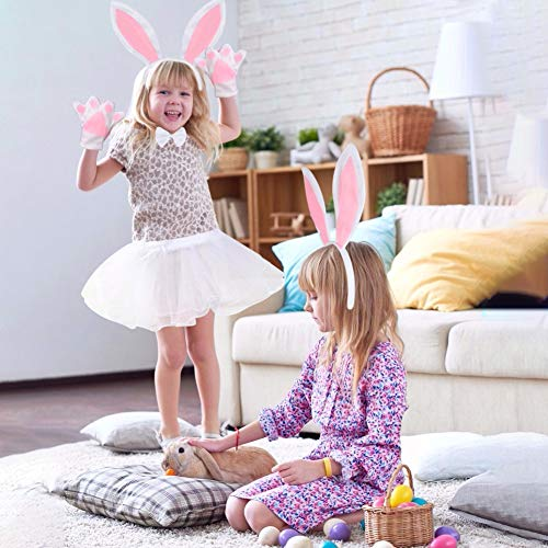 AMOR PRESENT Bunny Headband Rabbit Ears Bunny Costume for Kids Halloween, Easter, Dress Up, Cosplay Accessories Set