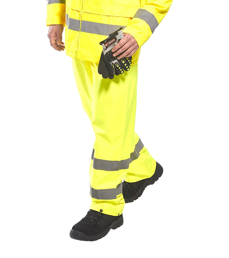 Portwest Workwear Mens Hi-Vis Rain Trousers