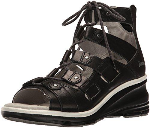Jambu Women's Milano Wedge Sandal - Black - 7.5 B(M) US