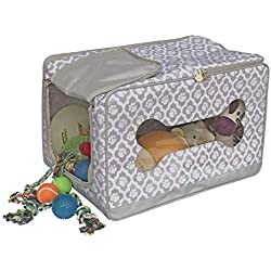 Everything Mary Pet Toy Box Paw Print, Grey/White