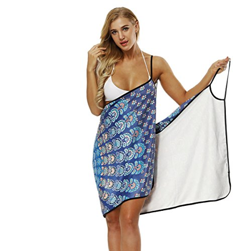 Ausion Multi-Functional Quick Drying Towel Women Girl Wearable Spaghetti Strap Dress