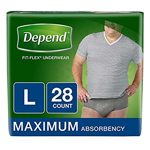 Depend FIT-Flex Incontinence Underwear for Men, Maximum Absorbency, L by Depend