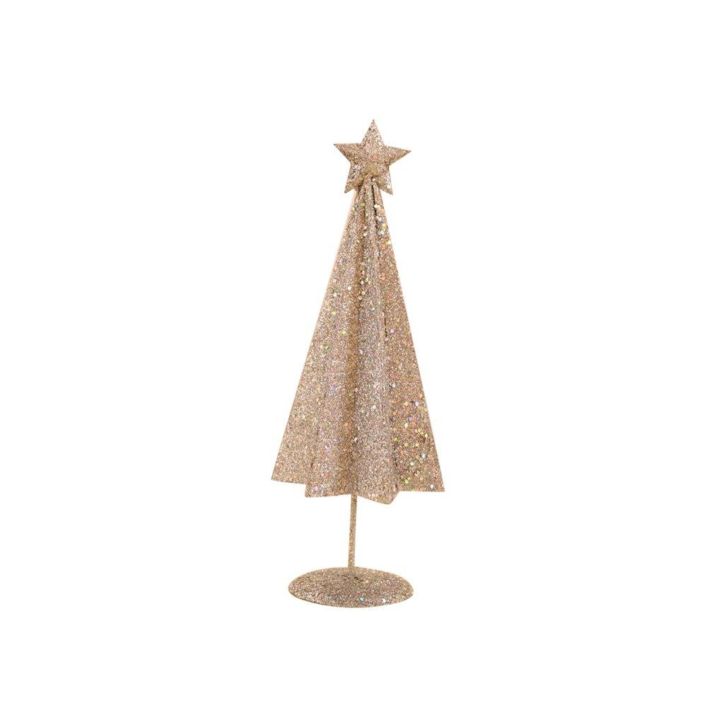 Christmas iron tree, Christmas table decoration, counter decoration, shop window decoration (silver)