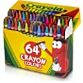 "Crayola TRTAZ11A 071662000646 Crayon Set, 3-5/8"", Permanent/Waterproof, 64/BX Sold As 1 Box, Assorted"