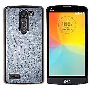YiPhone /// Prima de resorte delgada de la cubierta del caso de Shell Armor - El agua de lluvia Ventana Gotitas Gris Arte Textil - LG L Prime D337 / L Bello D337