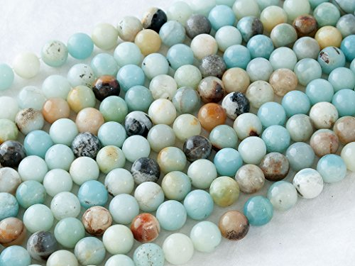 Green Forest Gems, DIY, Golden Amazonite Jasper, Natural, 4mm, Plain Round Semi-precious Gemstone Bead, About 38cm a Strand. (Please click to see other (Plain Round Beads)
