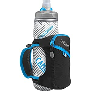 CamelBak Quick Grip Chill Handheld Water Bottle, Black/Atomic Blue, One Size