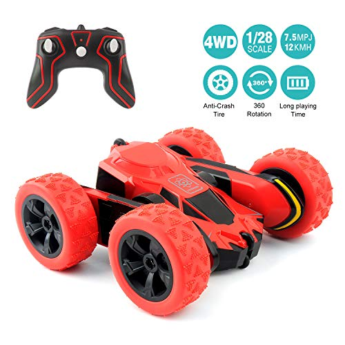 RC Cars Stunt Car Toy, Amicool 4WD 2.4Ghz Remote Control Car Double Sided Rotating Vehicles 360° Flips, Kids Toy Cars for Boys & Girls Birthday ()