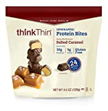 thinkThin Protein Bites, Salted Caramel, 4.5 oz Bag (6 Count, 18 Servings) For Sale