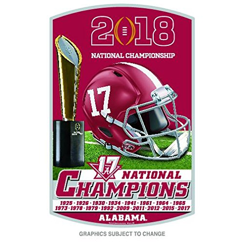 Alabama Crimson Tide National Champions 2018 Wood Sign Champions Wood Sign