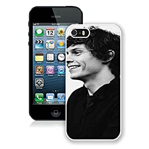 Beautiful Designed Case With Evan Peters White For iPhone 5S Phone Case