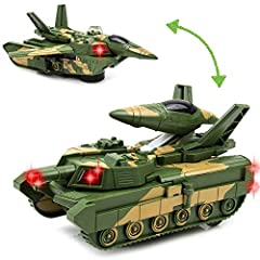 Toytykes Electric Deformation Combat Tank | High Quality Material | Comes with Lights and Music | Automatically Transforms from the Tank to Robot | Brain Development | Ultimate Fun for Kids:                       Is...