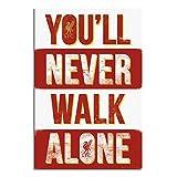 Liverpool FC You'll Never Walk Alone Poster Satin Matt Laminated - 91.5 x 61cms (36 x 24 Inches)