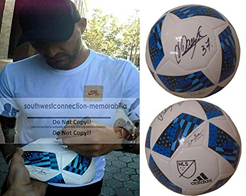 Los Angeles Galaxy Jelle Van Damme Autographed Hand Signed Adidas White MLS Logo Soccer Ball with Exact Proof Photo, Royal Antwerp, Belgium National Team, Standard Liege, Wolverhampton Wanderers, COA
