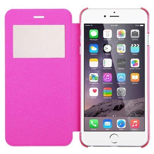 VSHOP ® Coque - Apple iphone 5, 5s Etui Housse de Protection Flip Case Cover avec fenetre, Rose