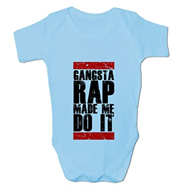 17a5582bf Amazon.com: Babies Gangsta Rap Made Me Do It Baby Grow: Infant And Toddler  Bodysuits: Clothing