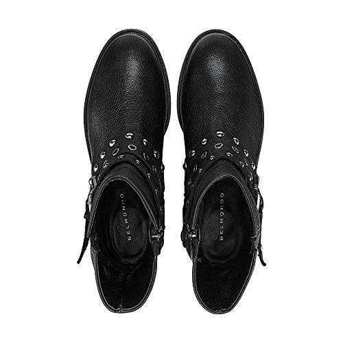 Belmondo Dames Trend-enkellaars Zwart Leder 40