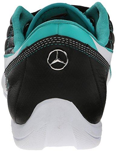 Puma Menns Mercedes Drift Cat 6 Skinn Blonder-up Mote Sneaker Svart / Hvit / Spektra Grønn