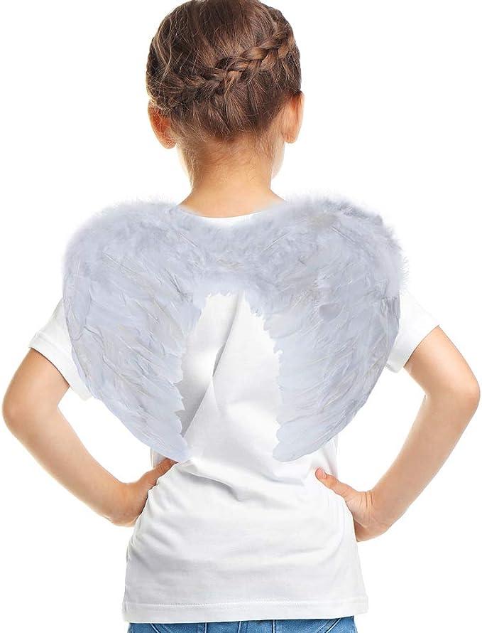 Amazon.com: Alas de ángel y halo para niños, disfraz de ...