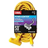 General Cable 00787.63.05 Outdoor Power-Center Extension Cords, 3-Conductor Grounded, Type SJEOOW, -40 Degree C to 60 Degree C, 300V, 50', 12/3 SJEWA, 3 OUT