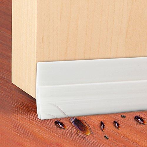 (Door Weatherstrip,Canika Adhesive Door Bottom Seal Rubber Strip Weather Stripping Door Bottom Seal Strip Door Draft Stopper - White)