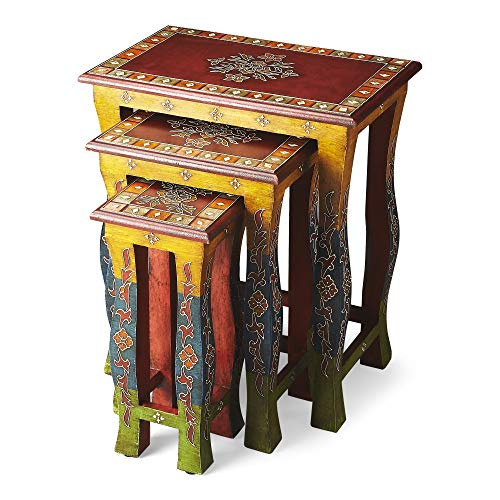 BUTLER 1893290 SASHA HAND PAINTED NESTING TABLES