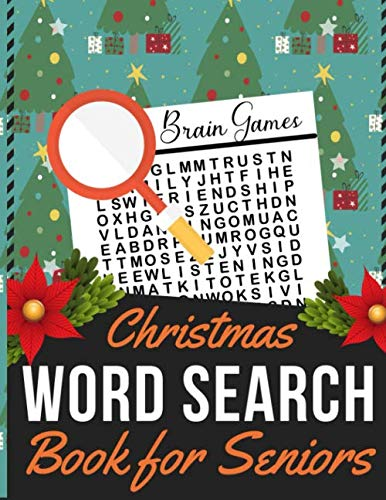 Christmas Word Search Book for Seniors: Holiday themed word search puzzle book Puzzle Gift for Word Puzzle Lover Brain Exercise Game (Words Christmas Random)