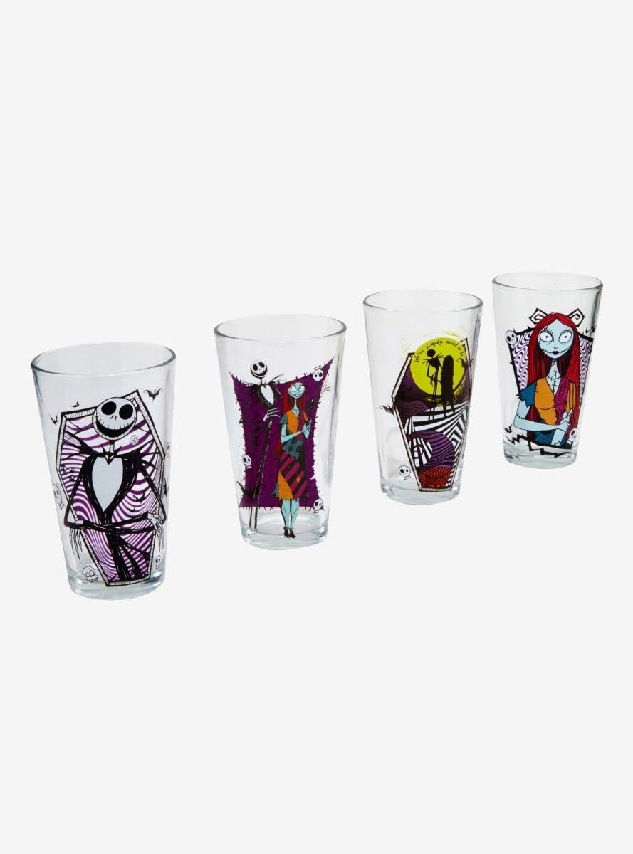 The Nightmare Before Christmas Jack /& Sally Pint Glass Set