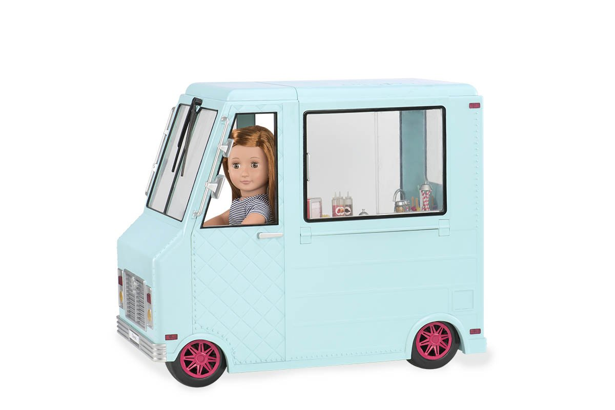 Amazon.com: Our Generation Dolls Sweet Stop Ice Cream Truck for ...