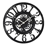 CLG-FLY 22 Inch Guabiao Imitation Iron Mechanical Clock Retro Clock Gear Industry Other Black