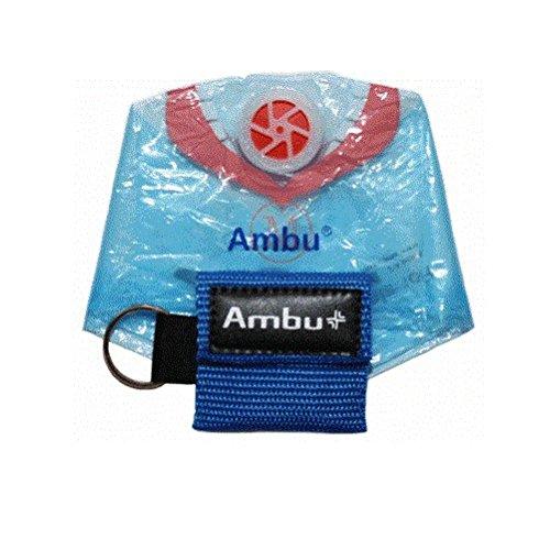 AMBU 248 201 103 Blue Nylon Res-Cue Key CPR Mask with Mini Keychain Pouch