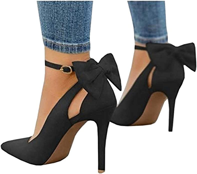 Fashare Women's High Heels Ankle Strap Shoes