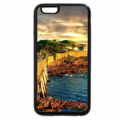 iPhone 6S / iPhone 6 Case (Black) BARE ISLAND LA PEROUSE