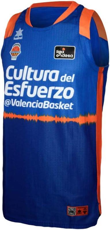 Hombres Valencia basket Camiseta de Juego Azul ACB XS