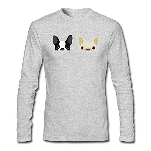 PTNTP Hot Sale Bulldog Custom Men's Blank Long Sleeve T-Shirt Round Collar Tee Top Base Shirt