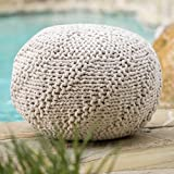 Christopher Knight Home 299701 Hazel Ckh Indoor Pouf, Ivory