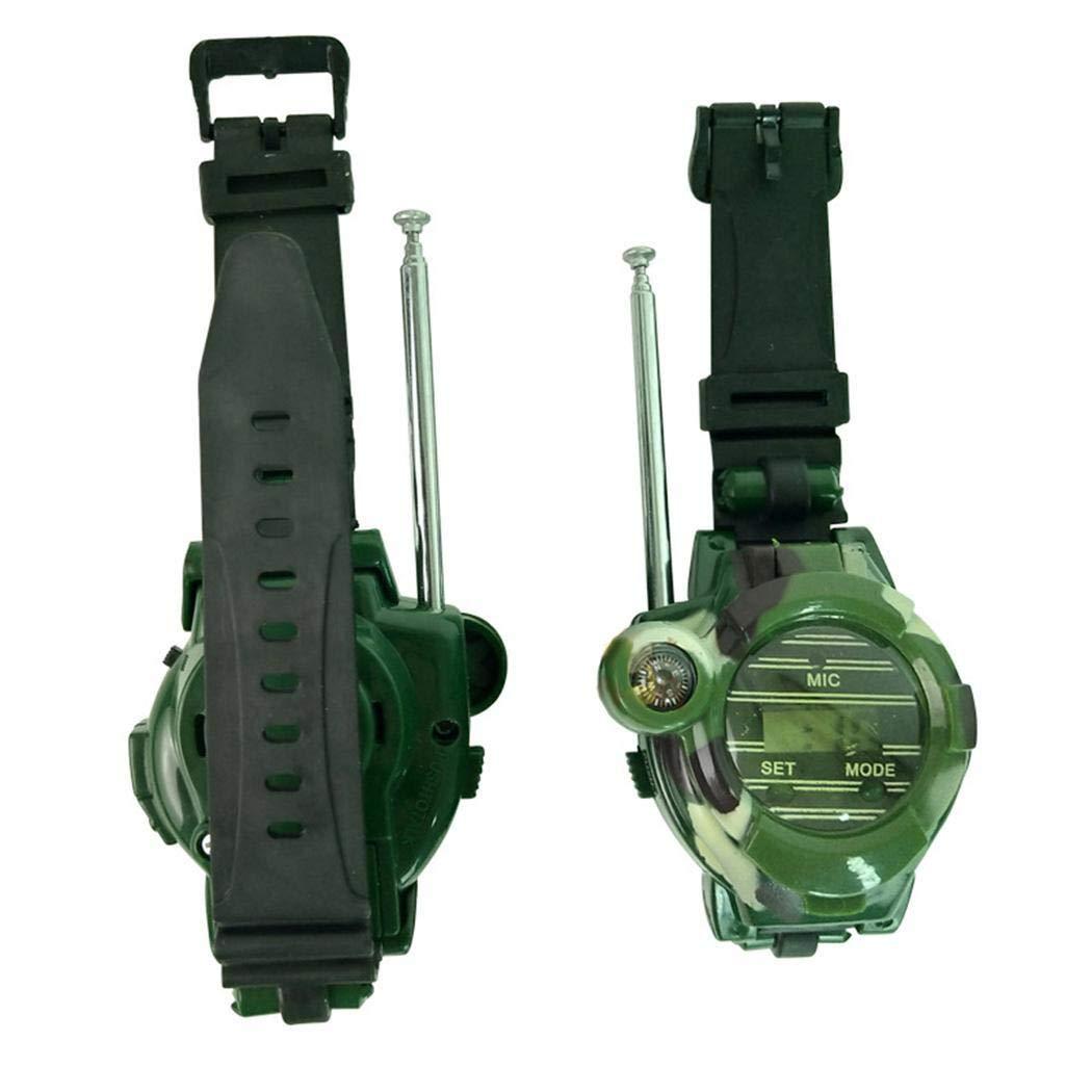 hiriyt Children Camouflage Watch Wireless 7 in 1 Outdoor Children's Walkie Talkie Toy Walkie Talkies by hiriyt (Image #6)