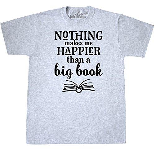 inktastic Big Book Reading Quote Librarian Gift T-Shirt Medium Ash Grey 2e1c2 Librarian Ash Grey T-shirt