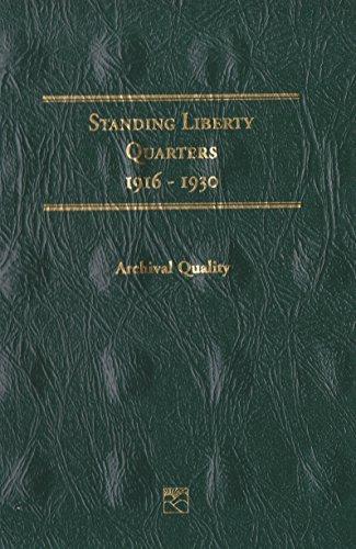 1916-1930 STANDING LIBERTY QUARTERS LITTLETON LCF16 COIN; ALBUM, BINDER, BOARD, BOOK, CARD, COLLECTION, FOLDER, HOLDER, PAGE, PORTFOLIO, PUBLICATION, SET, VOLUME