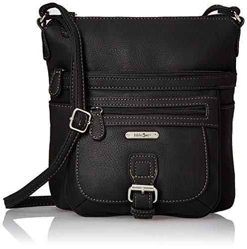 MultiSac womens Mini Flare Crossbody Bag, Black,One Size