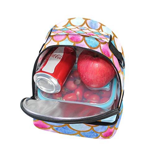 lunch coloré bandoulière sirène à Sac Cooler Pincnic l'école isotherme à Tote réglable Alinlo avec pour Échelle Boîte SXCdCpx